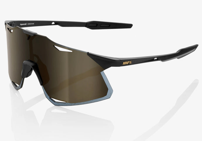 100% Eyewear Hypercraft, Matte Black/Soft Gold Mirror Lens Woolys Wheels Sydney