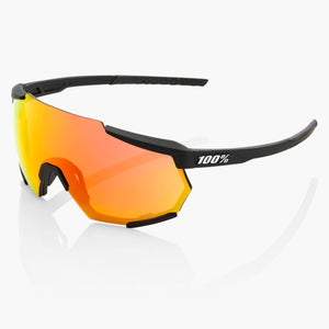 100% Racetrap Cycling Sunglasses, Soft Tact Black With Hiper Red Multilayer Mirror Lens + Clear Lens buy online at Woolys Wheels Sydney with free delivery