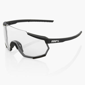 100% Racetrap Cycling Sunglasses, Soft Tact Black With Hiper Red Multilayer Mirror Lens + Clear Lens