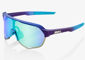 100% S2 Matte Metallic Blue Topaz Cycling Sunglasses, Woolys Wheels