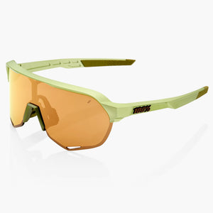 100% S2 - Matte Metallic Viperidae Bronze Multilayer Mirror Lens + Clear lens Cycling Sunglasses buy online at Woolys Wheels with free delivery