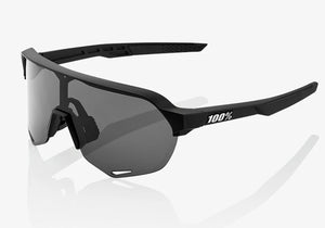 100% S2 Soft Tact Black, Smoke + Clear Lens, Cycling Sunglasses, Woolys Wheels Sydney