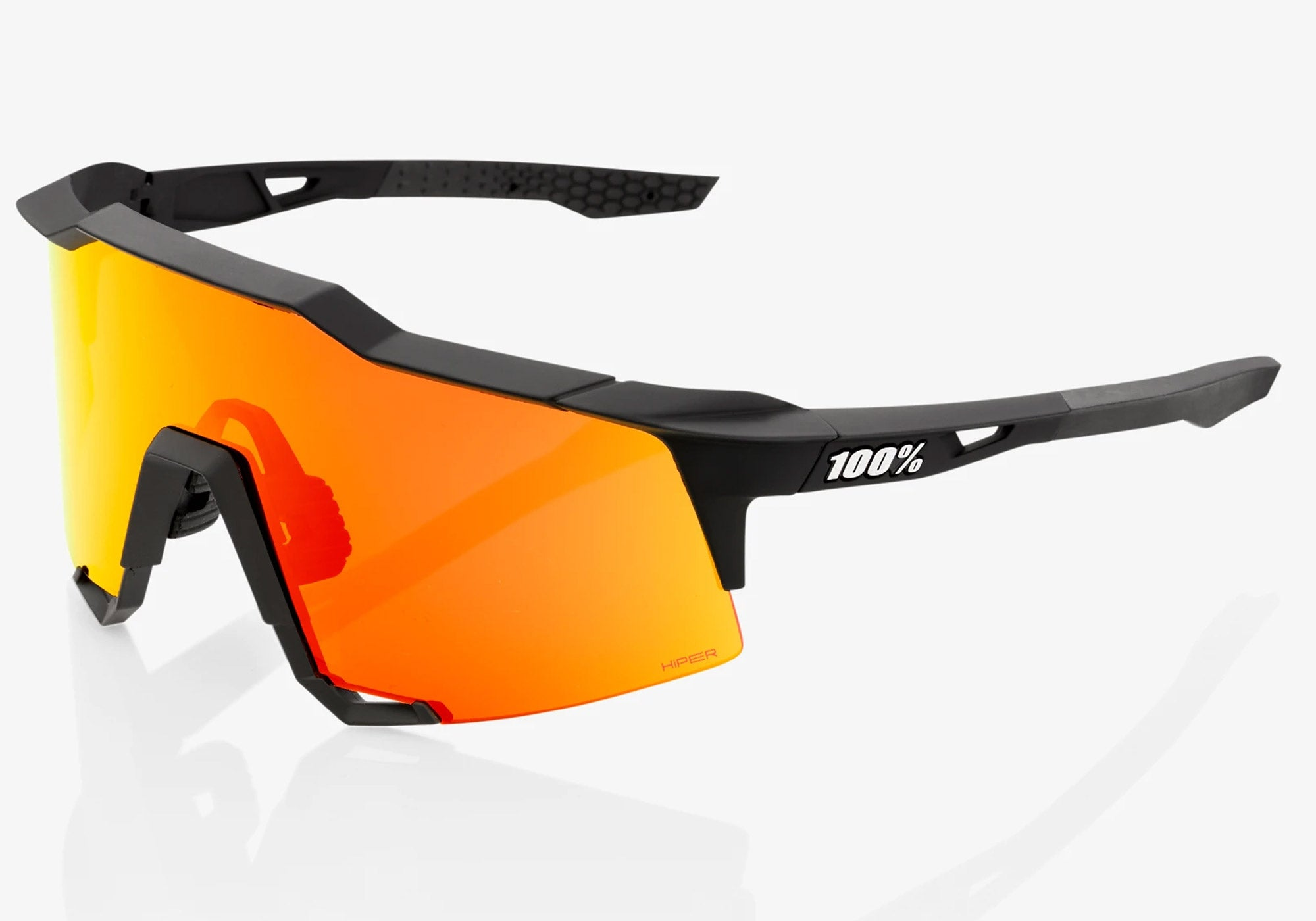 100% Eyewear Speedcraft - Soft Tact Black With Hyper Red Multilayer Mirror Lens + Clear Lens, Woolys Wheels Sydney