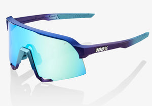 100% Eyewear S3 Matte Metallic With Blue Topaz Mirror Lens + Clear Lens Included Woolys Wheels Sydney