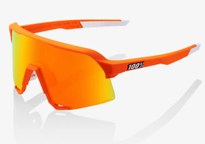 100% Eyewear S3 Neon Orange, HiPER® Red Multilayer Mirror Lens + Clear Lens Included Woolys Wheels