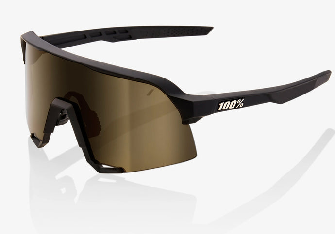 100% Eyewear S3 Soft Tact Black With Soft Gold and Clear Lenses Woolys Wheels