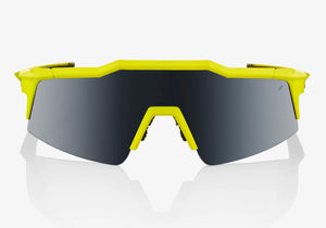 100% Speedcrsaft SL Soft Tact Banana with Black Mirror Lens Cycling Sunglasses