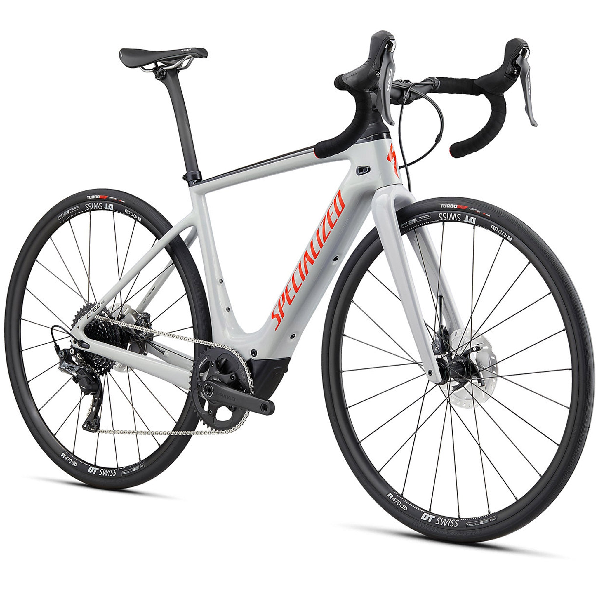 2021 Specialized Creo SL Comp Carbon, Gloss Dove Gray E-Bike Woolys Wheels