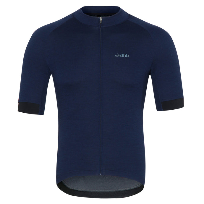 DHB Mens Merino Short Sleeve Jersey, Bright Blue, buy online at Woolys Wheels with free Australia-wide delivery!