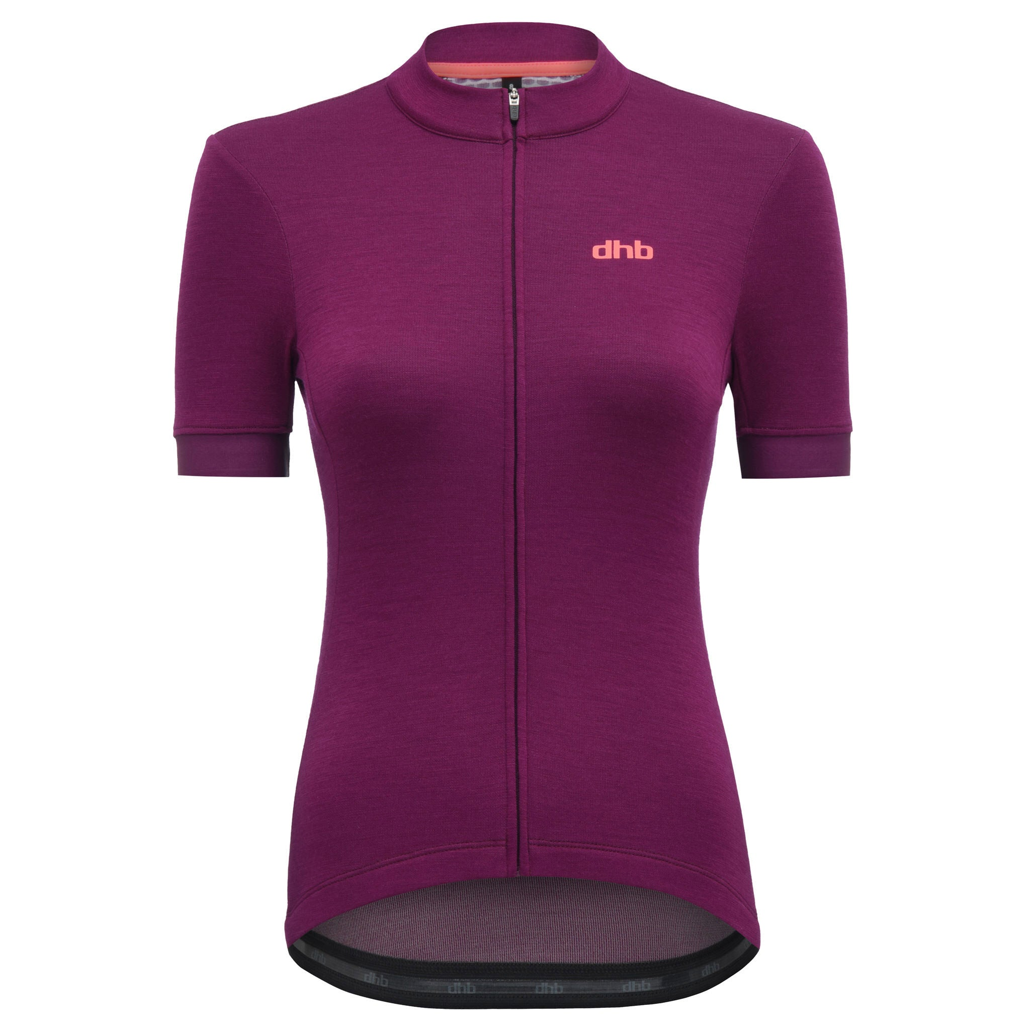 DHB Womens Classic Merino Short Sleeve Jersey Raspberry buy online at Woolys Wheels with free delivery Australia-Wide