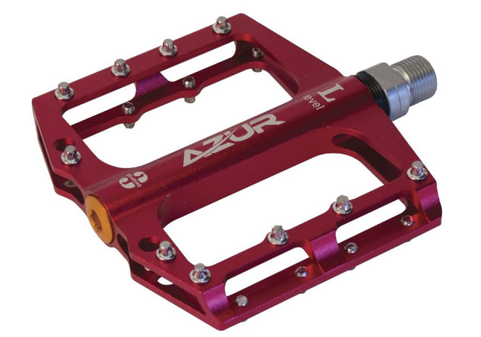 Azur  MTB Clutch Pedal - Red (Pair), Woolys Wheels Sydney