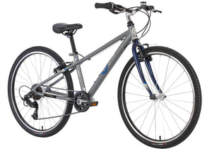 BYK E-620x7 Speed Boys Mountain/Road Bike, Titanium/Dark Blue, Suit Height 142-175cm, buy at Woolys Wheels Sydney