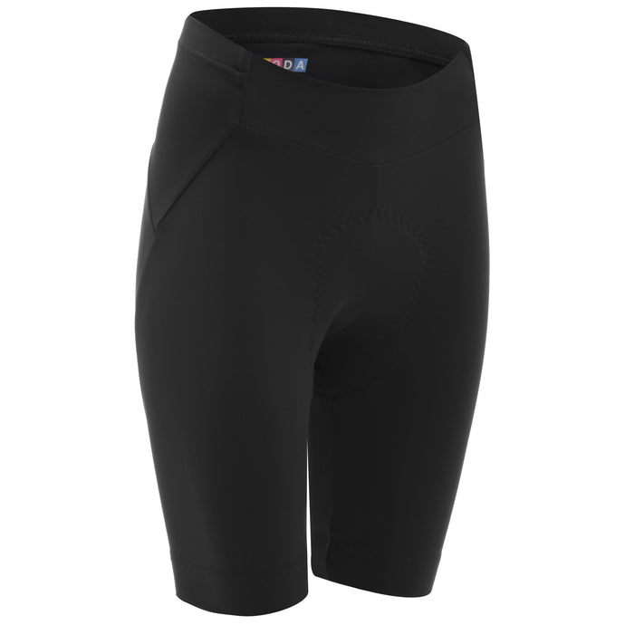 DHB Womens Moda Classic Waist Shorts, Black buy online at Woolys Wheels Sydney with fast, free delivery