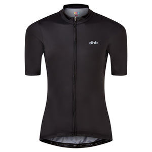 DHB Womens Moda Short Sleeve Jersey, Black buy online at Woolys Wheels Sydney