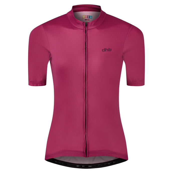 DHB Womens Moda Short Sleeve Jersey, Dark Pink buy online at Woolys Wheels Sydney