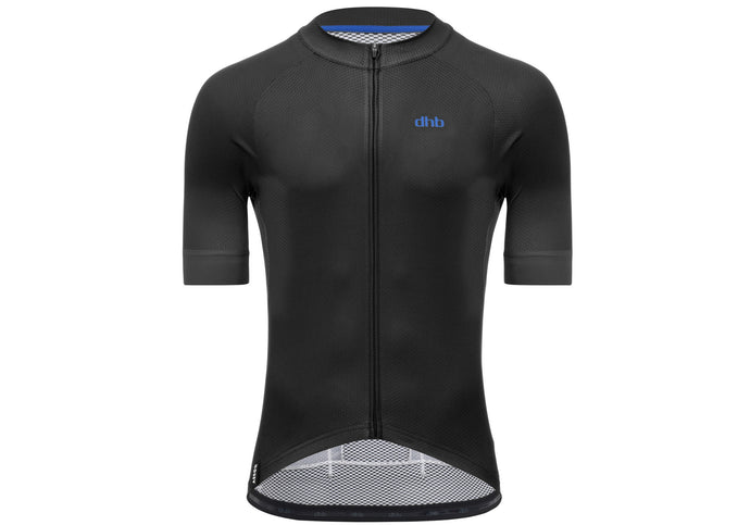DHB Mens Aeron Short Sleeve Jersey, Black, buy online at Woolys Wheels Sydney