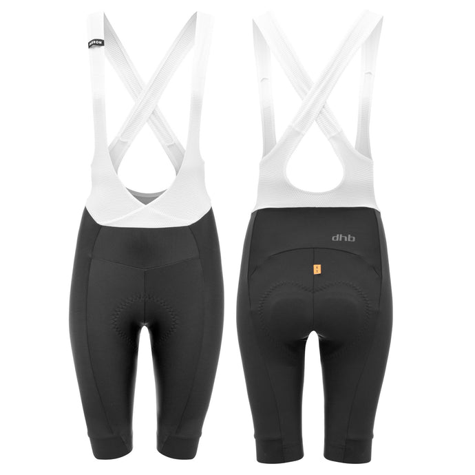 Dhb Aeron Women's Bib Shorts, Black/White, buy online at Woolys Wheels