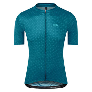 DHB Mens Classic Short Sleeve Jersey, Teal, Woolys Wheels Sydney
