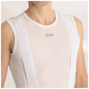 DHB Mens Lightweight Mesh Sleeveless Baselayer, White