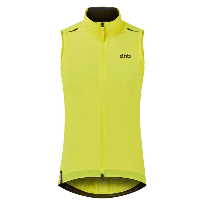 DHB Womens Aeron Women's Packable Gilet - Fluro Yellow buy online at Woolys Wheels