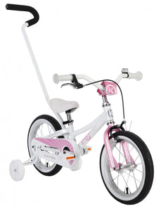 "BYK E250 Girls 12"" White/Pink Woolys Wheels Sydney"