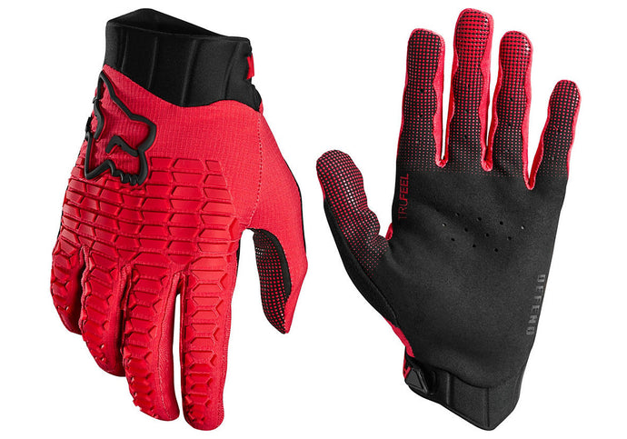 Fox Defend Mens MTB Gloves, Bright Red