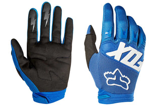 Fox Dirtpaw Race MTB Glove, Black or Blue, Woolys Wheels Sydney