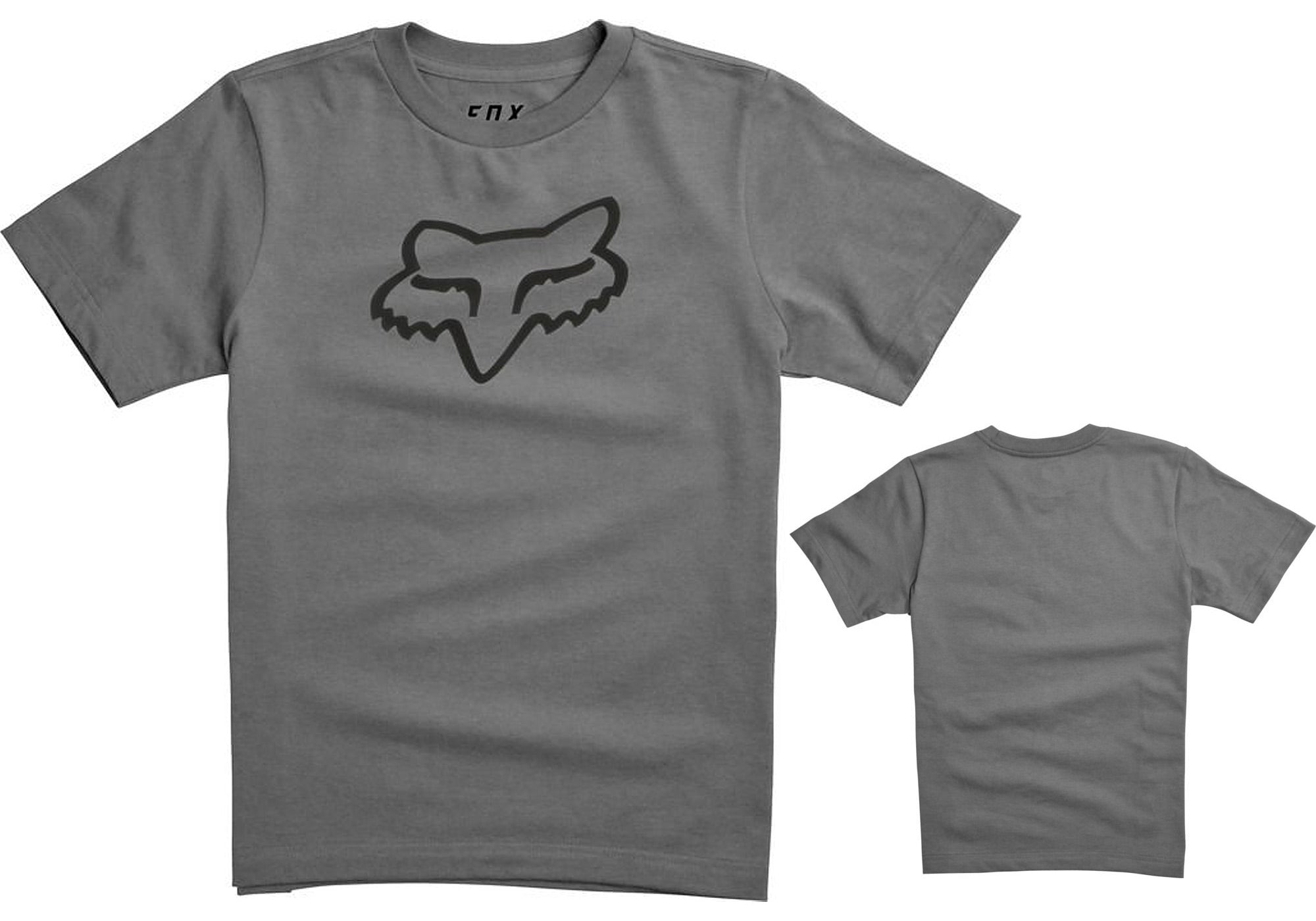 Fox Youth Legacy T-Shirt, Heather Graphite, (Small: 78cm chest)