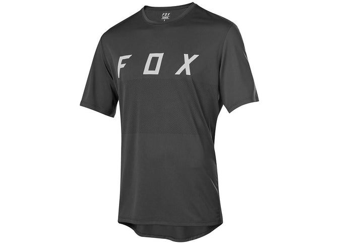 FOX Ranger Fox Mens MTB Jersey, Black/Grey, Woolys Wheels Sydney