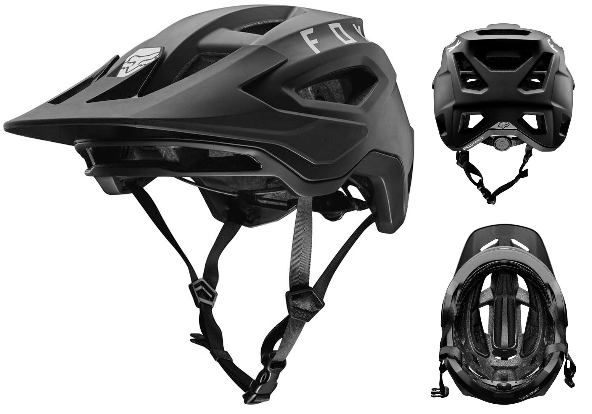 FOX Speed Frame Helmet 2020, Black, Woolys Wheels Sydney