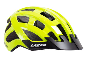 Lazer Compact Helmet, Flash Yellow, Unisize, Woolys Wheels Sydney