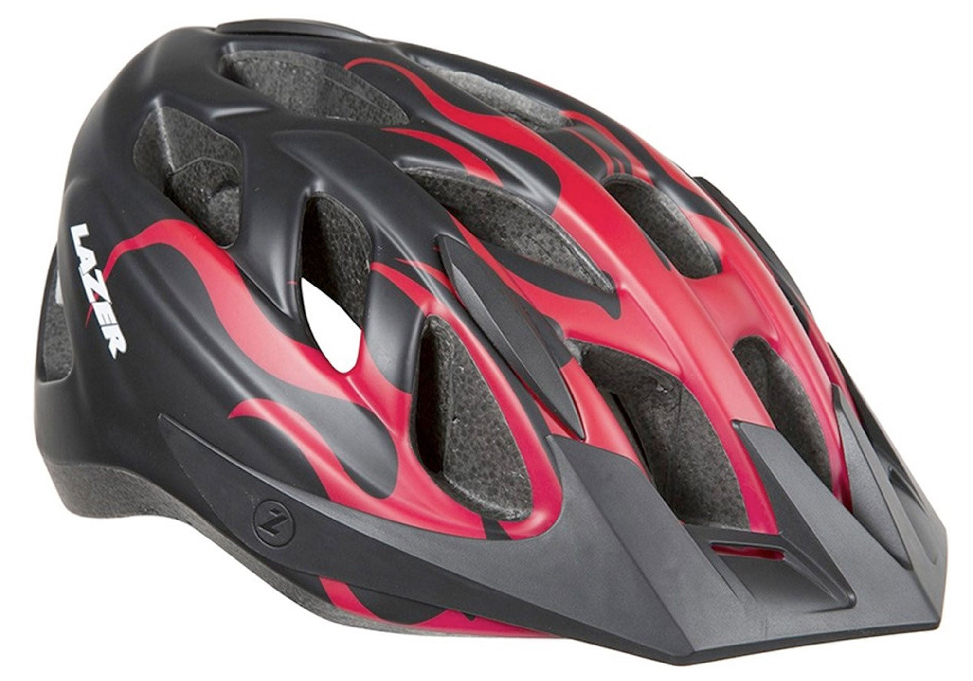 Lazer J1 Youth Helmet, Red Flames, Woolys Wheels Paddington
