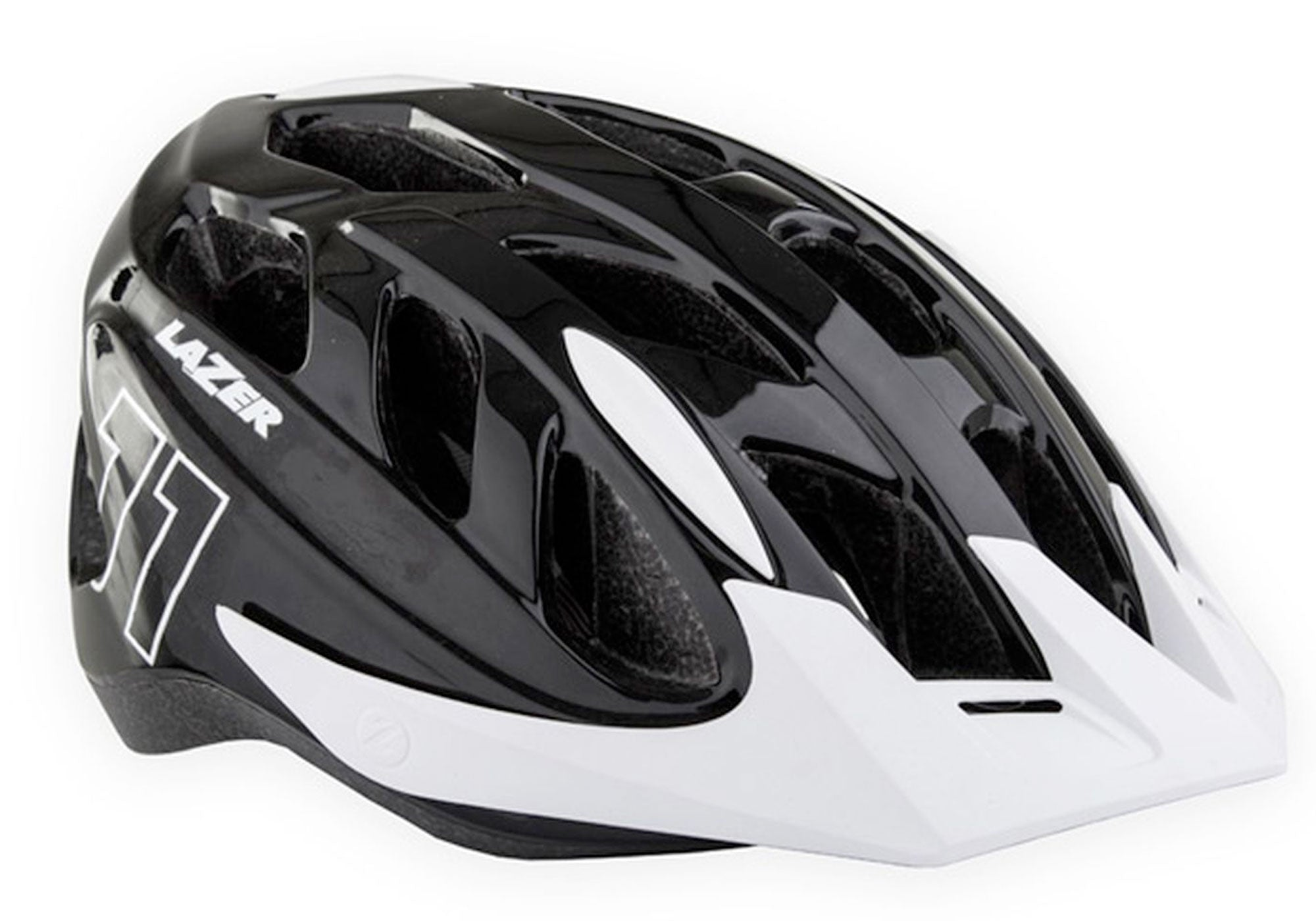 Lazer J1 Youth Helmet, Matt Black/White, Woolys Wheels Sydney