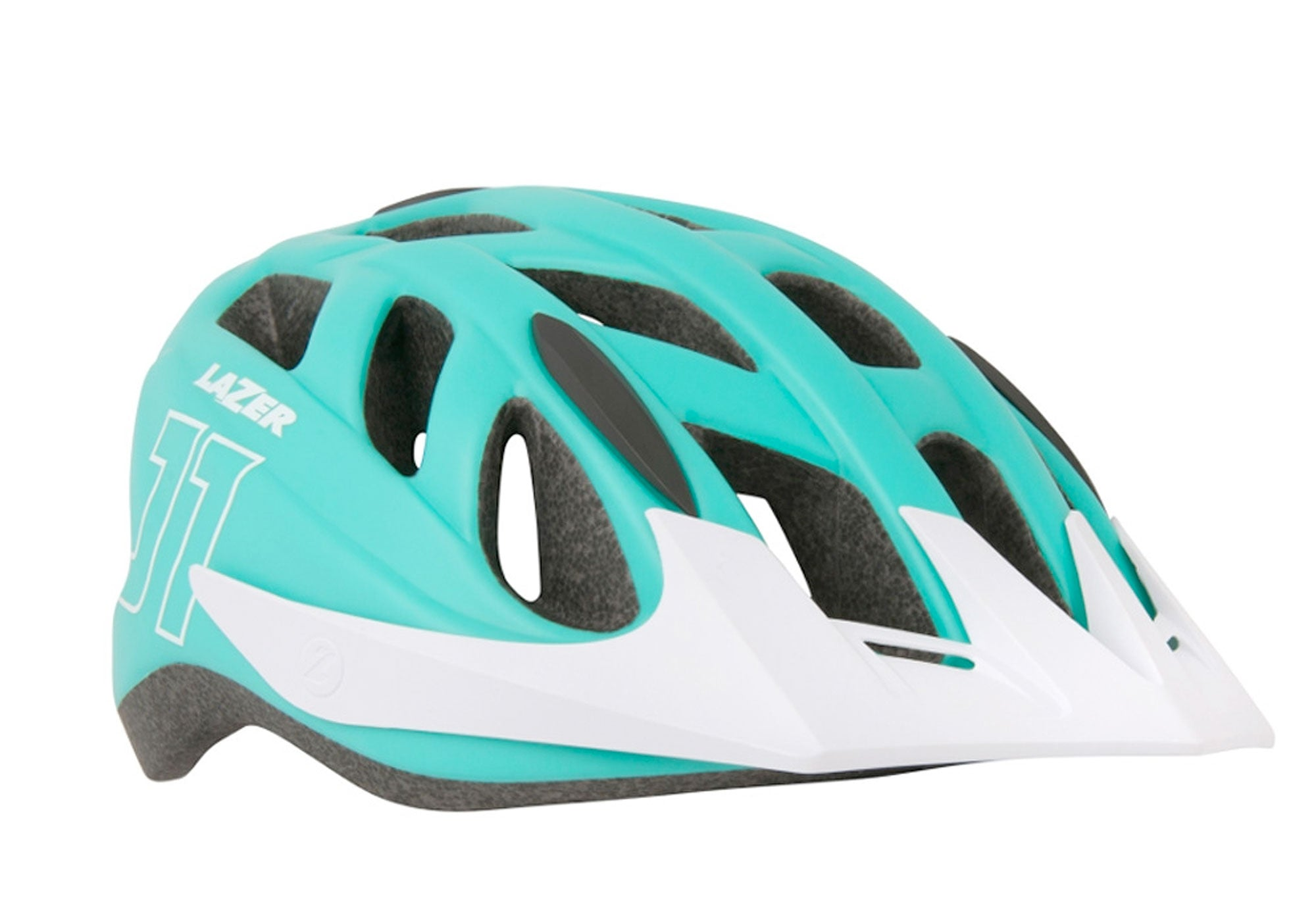 Lazer J1 Youth Helmet, Matt Green/White, Woolys Wheels, Sydney