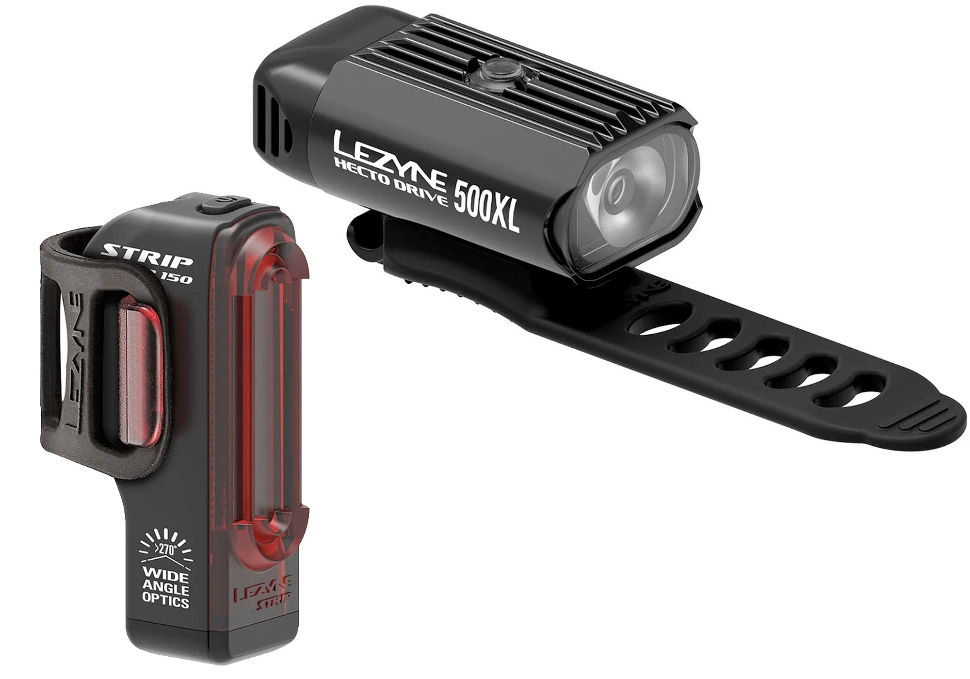 Lezyne Hecto Drive 500XL Front & Rear Light Set, Woolys Wheels Sydney