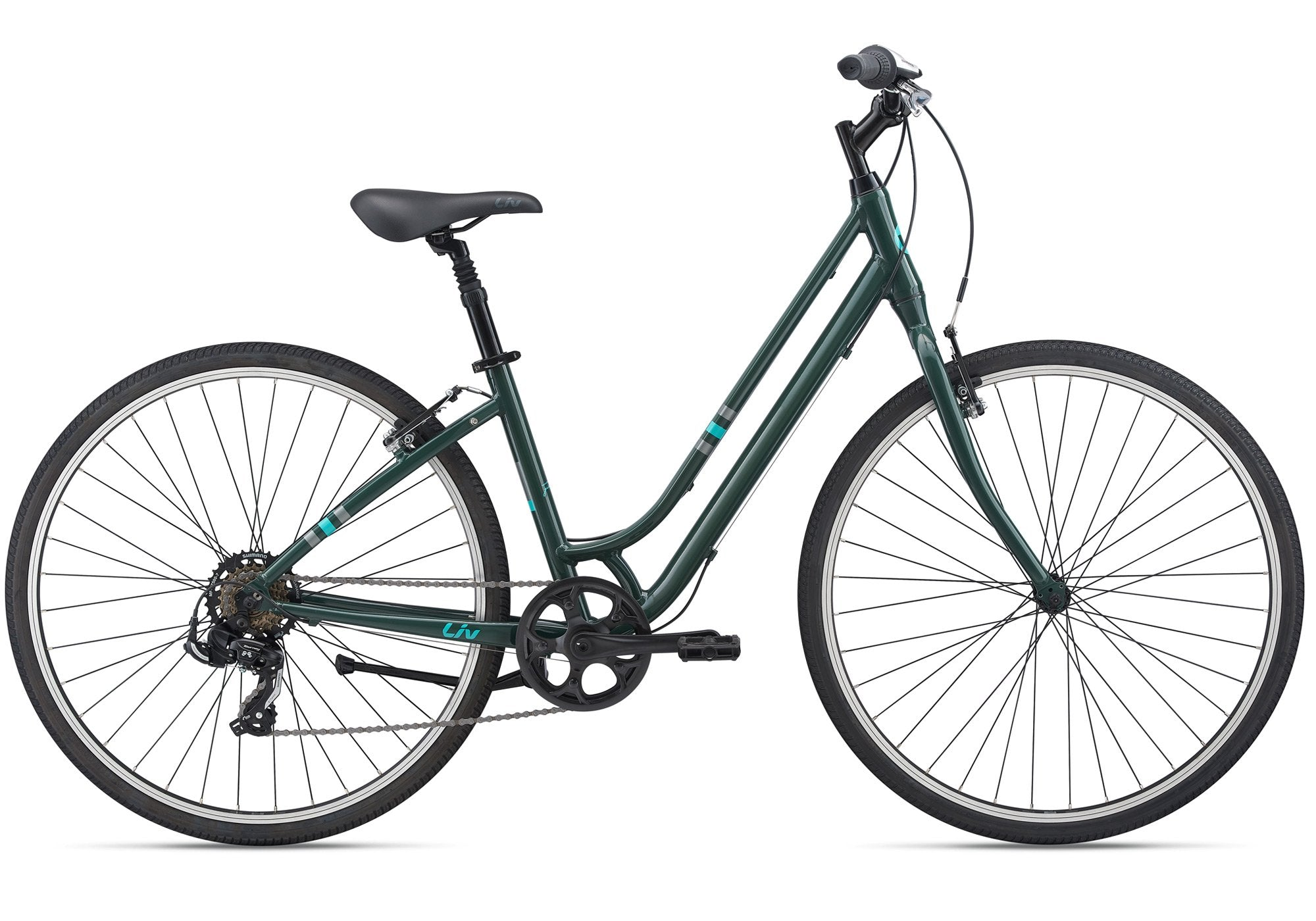 2021 Giant Liv Flourish 4, Womens Fitness Bike, Trekking Green, Woolys Wheels Sydney