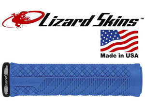 Lizard Skins Lock-On Charger Evo MTB Grips - Electric Blue, buy online at Woolys Wheels