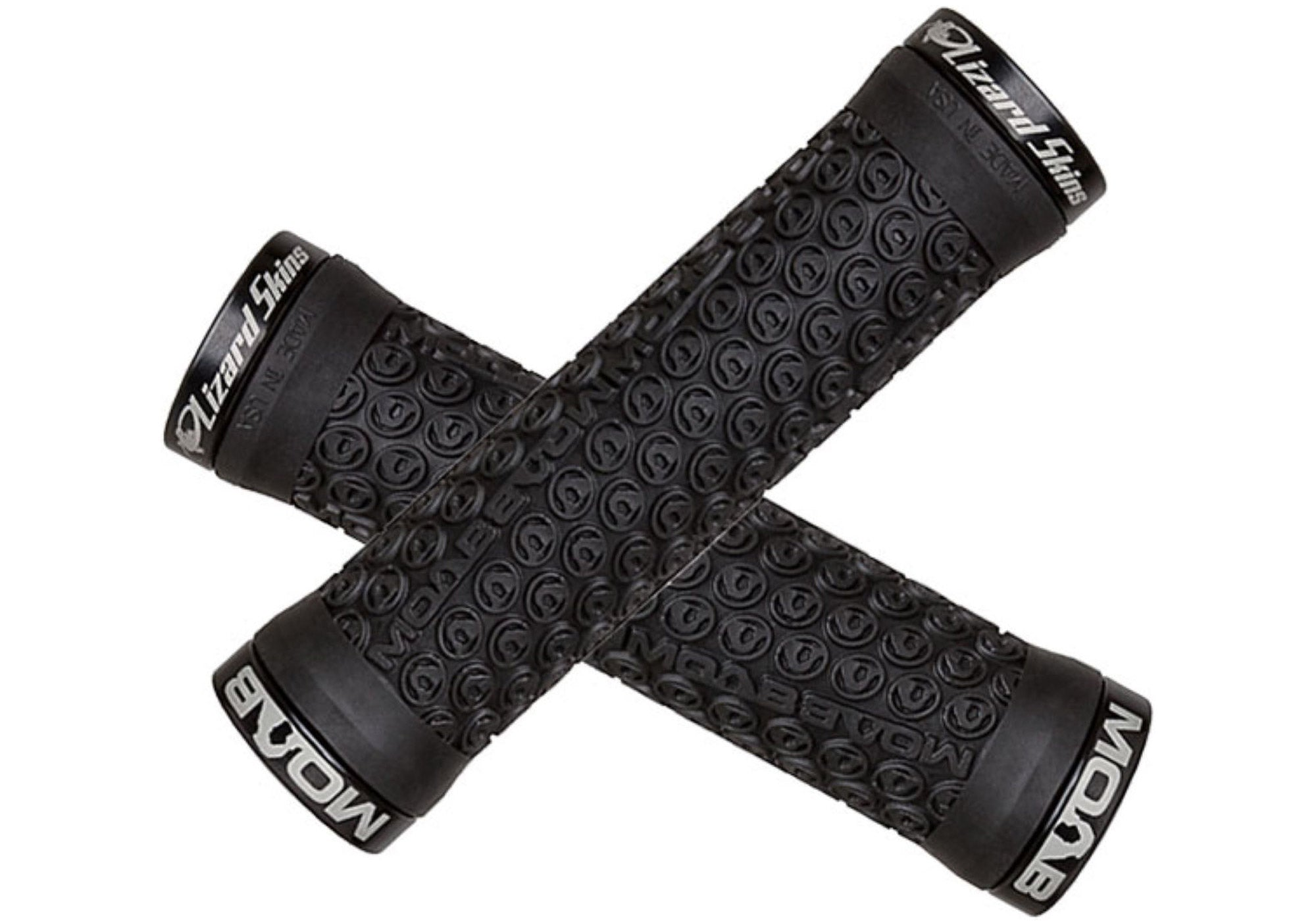 Lizard Skins Lock-On Moab MTB Grips - Black, buy online at Woolys Wheels Sydney