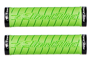 Lizard Skins Logo Lock-On Grips, Lime Woolys Wheels Sydney