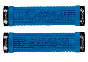 Lizard Skins Lock-On Peaty Grips, Electric Blue