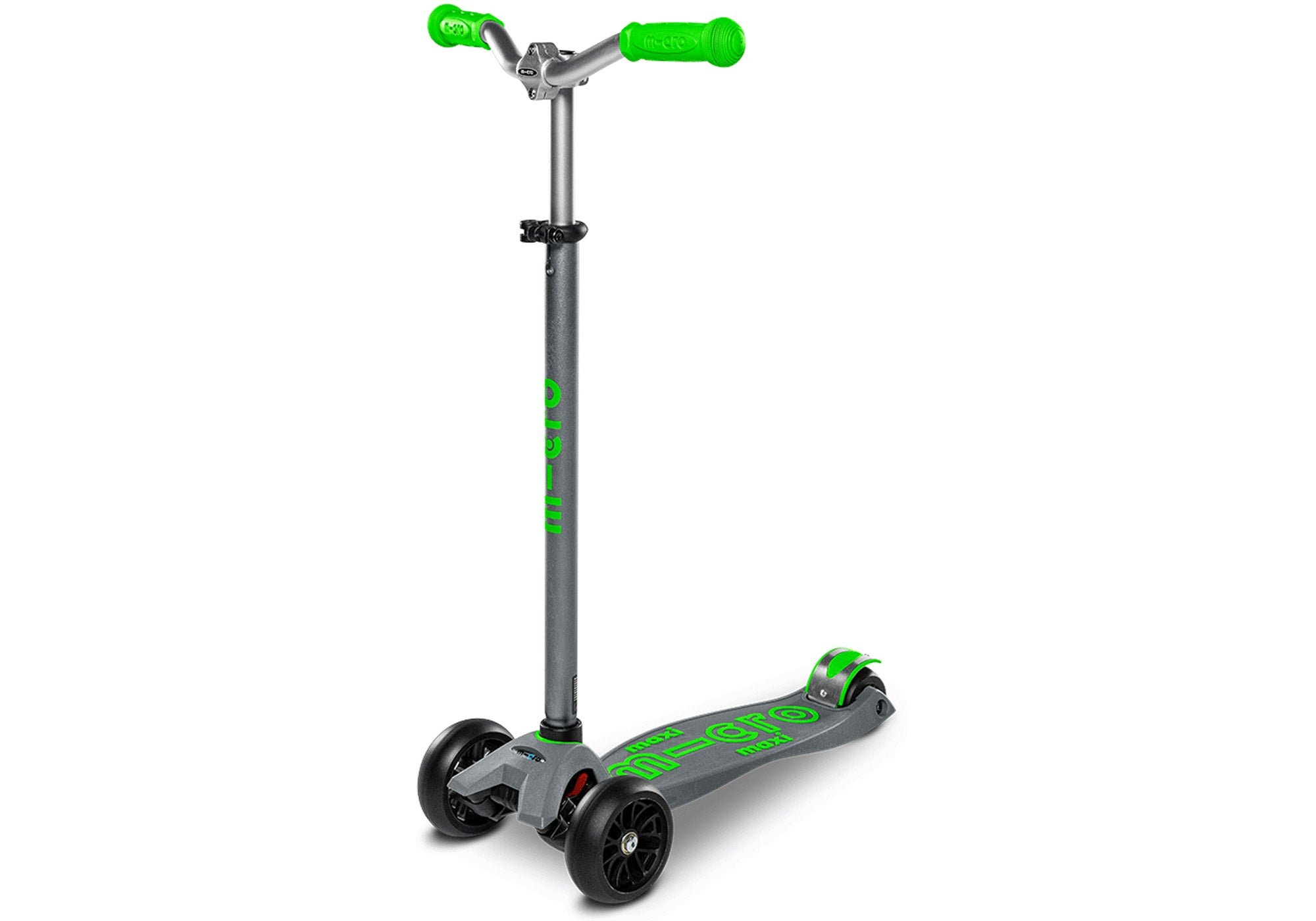 Micro Maxi Micro Deluxe Pro Scooter, Grey/Green at Woolys Wheels Online Sydney