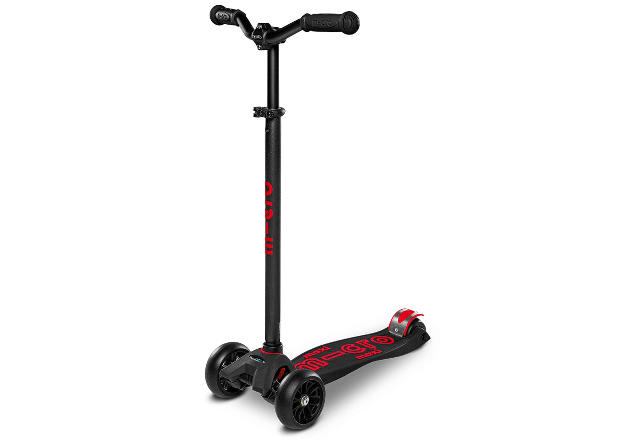 Micro Maxi Micro Deluxe Pro Scooter, Black/Red buy online at Woolys Wheels Sydney