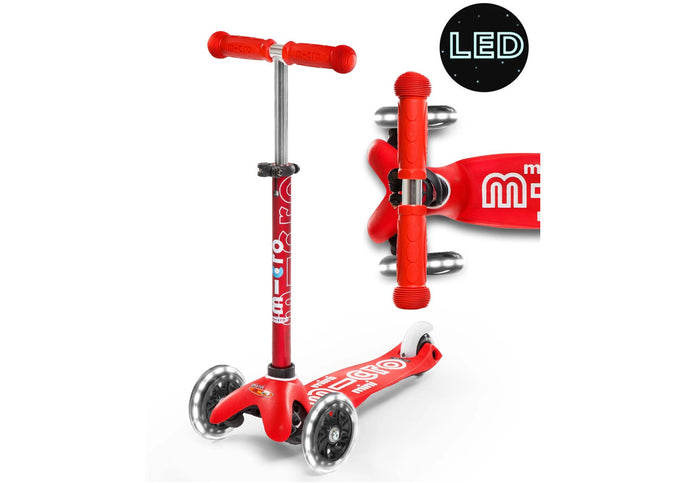 Micro Mini Deluxe Led Scooter, Red, 2-5 years Woolys Wheels, Sydney