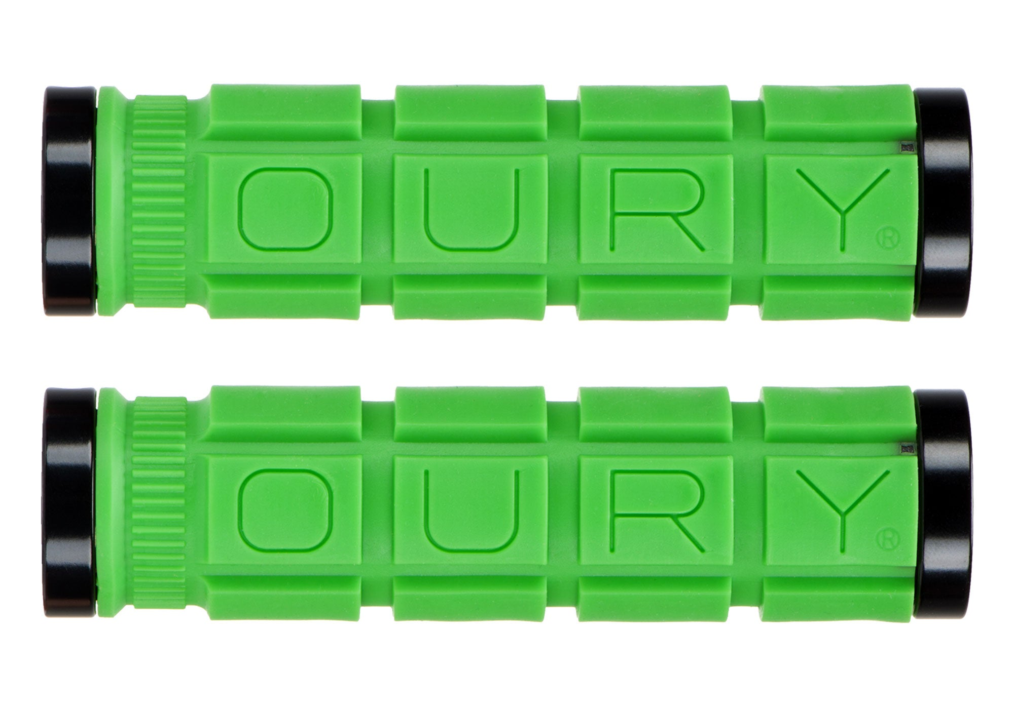 Oury Lock-On MTB Grips, Green Sydney Woolys Wheels