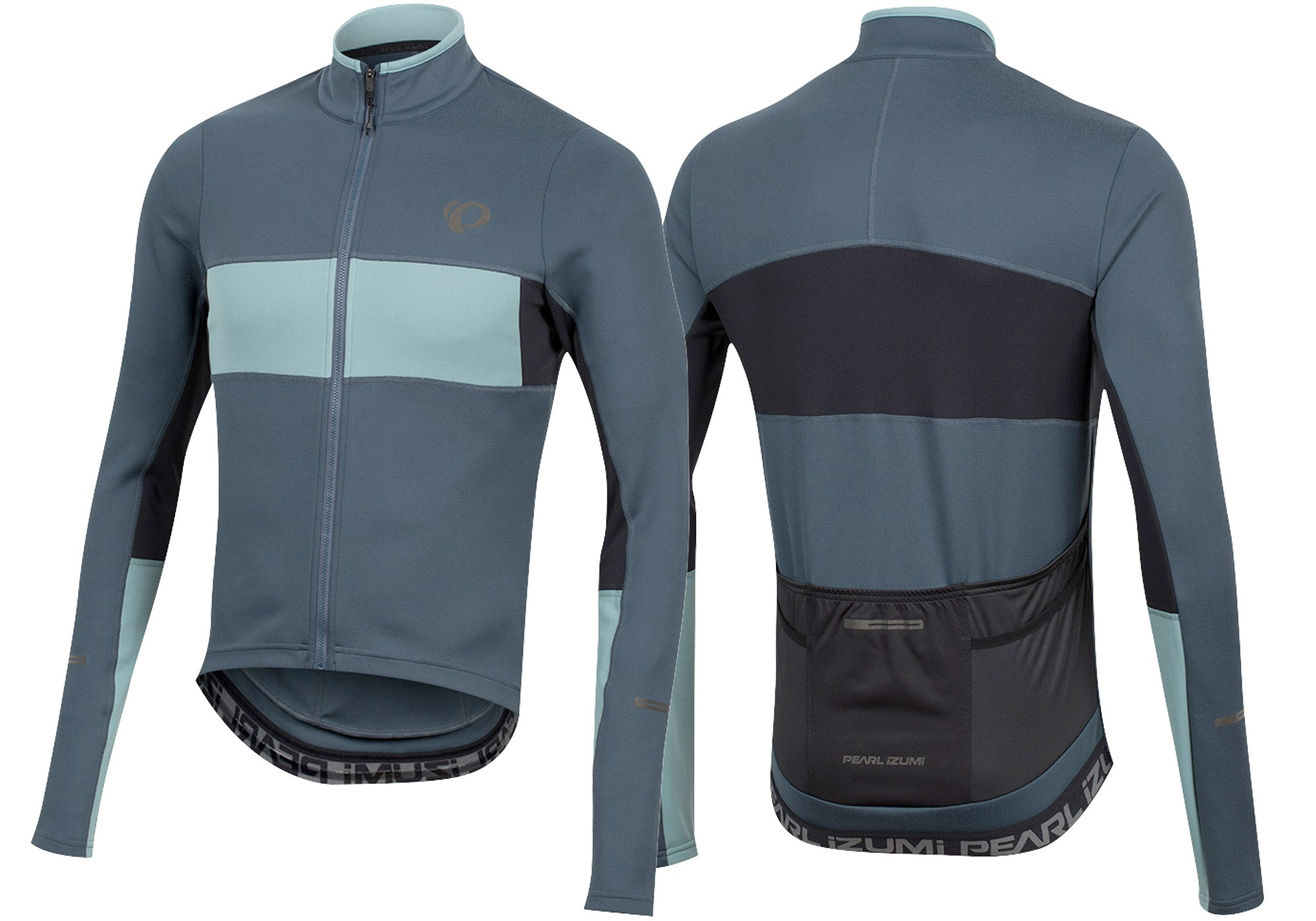 Pearl Izumi ELITE Escape Thermal Mens Road Jersey Long Sleeve, Navy/Arctic