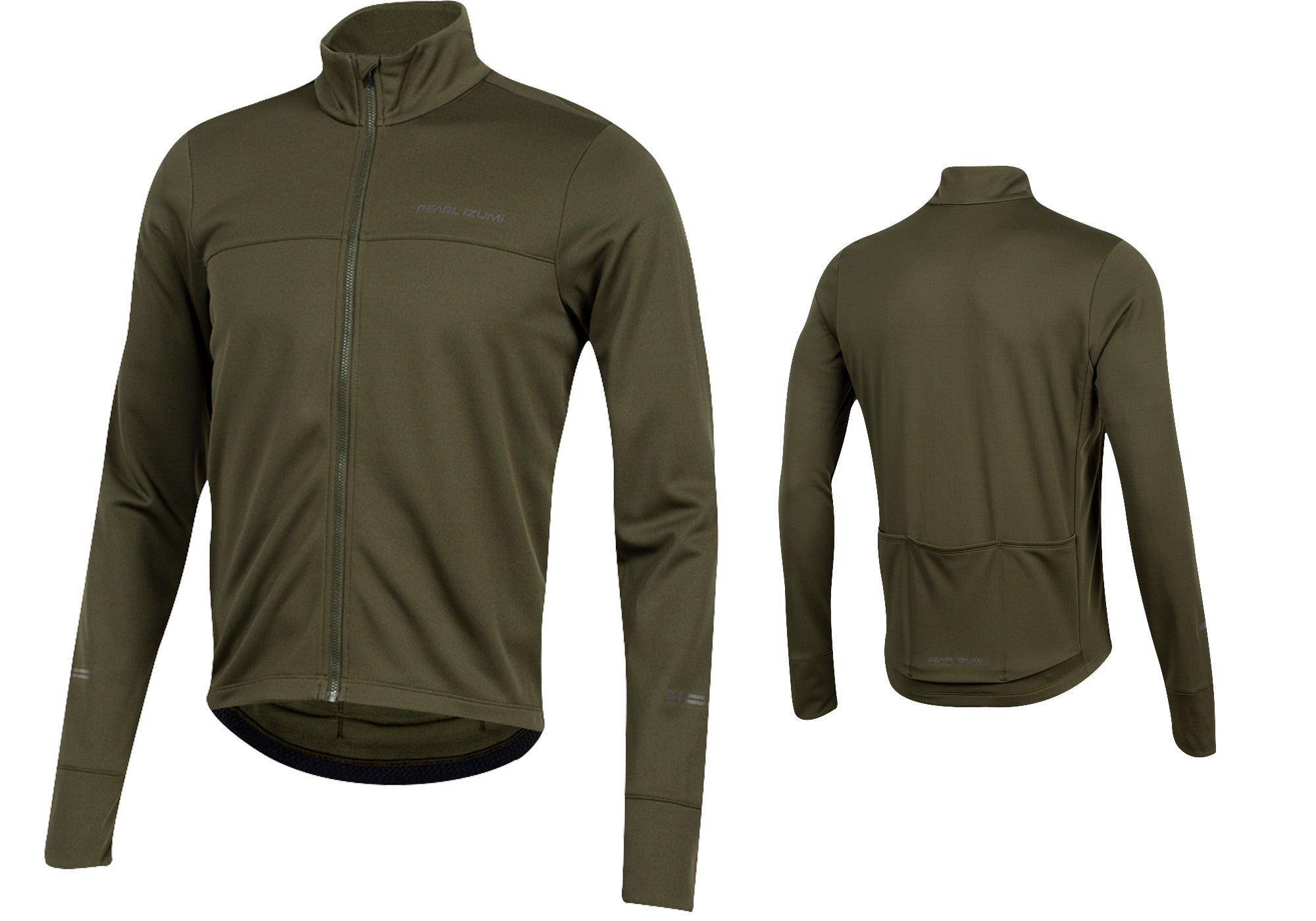 Pearl Izumi Mens Quest Thermal Long Sleeve Cycling Jersey, Forest buy at Woolys Wheels Sydney