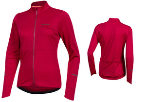 Pearl Izumi Womens Quest Thermal Long Sleeve Cycling Jersey, Beet Red