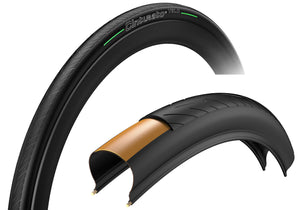 Pirelli Cinturato Velo TLR 700x28C Road Clincher Tyre, Tubeless Ready, Black Woolys Wheels Sydney