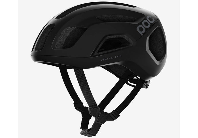 POC Ventral Air Spin Unisex Road Bike Helmet, Uranium Matt Black Woolys Wheels Sydney