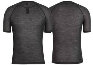 Rapha Mens Merino Mesh Base Layer - Short Sleeve, Black buy online at Woolys Wheels Sydney